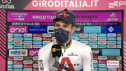 Preioni plaude alla vittoria di Filippo Ganna