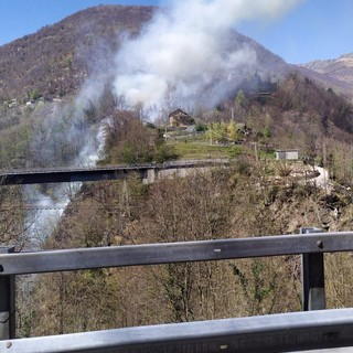 Spento l'incendio in Cannobina