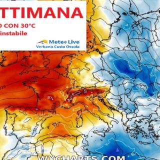 Tempo instabile ma nel fine settimana si toccheranno i 30 gradi