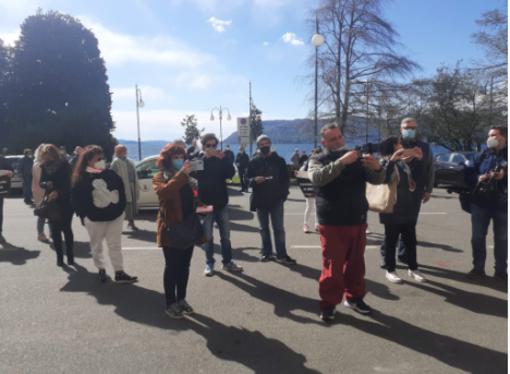"""Protesta degli ambulanti a Verbania: """"I mercati luoghi sicuri, non capiamo la discriminazione rispetto ai supermercati"""""""