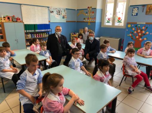 Gravellona, i bambini dell'asilo panettieri per un giorno